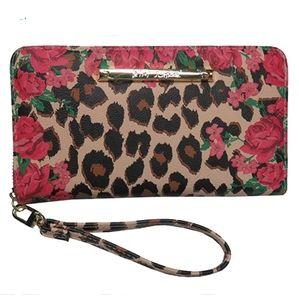 Betsey Johnson Women's Wristlet/Wallet Leo/Red
